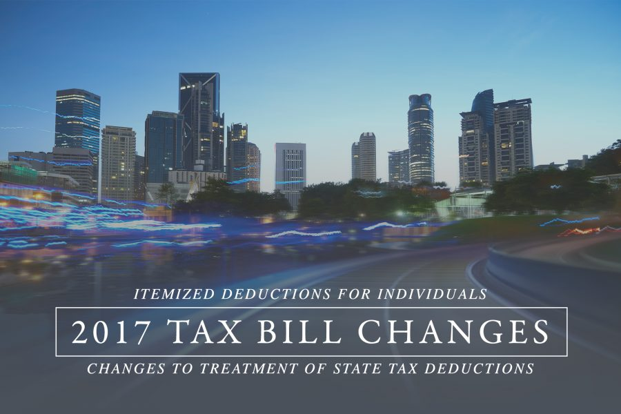 Changes to Treatment of State Tax Deductions